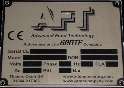 Stainless Steel Dataplate