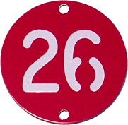 number tag on aluminum