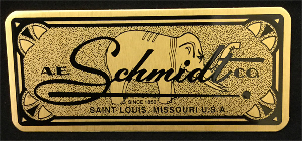 Etched Brass Name Plate