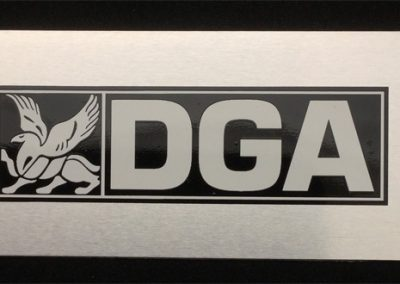 Screen Printed Aluminum Logo Plate