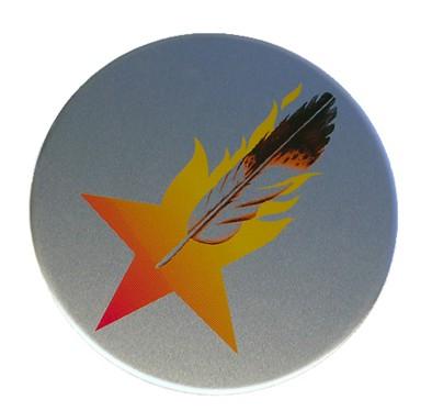 logoplate on aluminum
